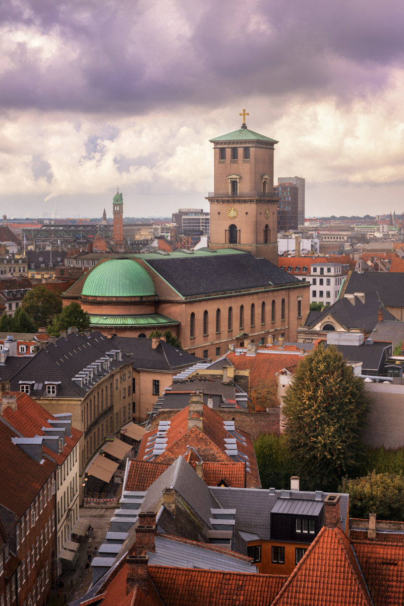 Church of Our Lady and Copenhagen Skyline, Denmark