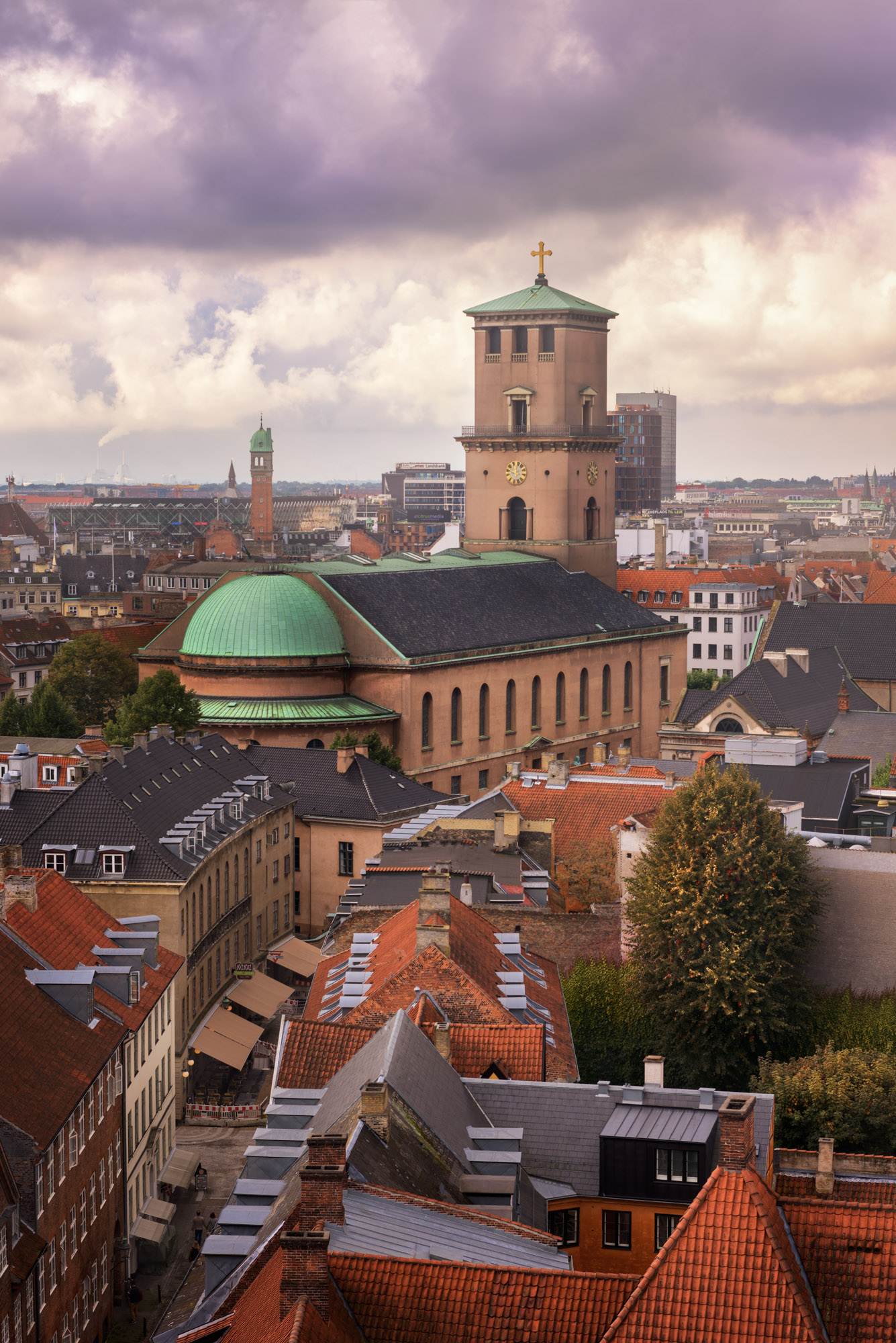 Church of Our Lady and Copenhagen Skyline, Denmark