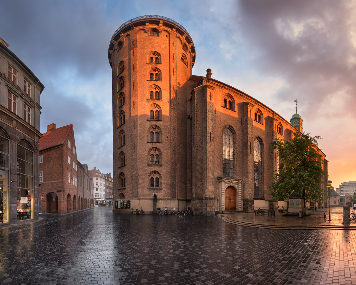Panorama of the Round Tower, Copenhagen, Denmark