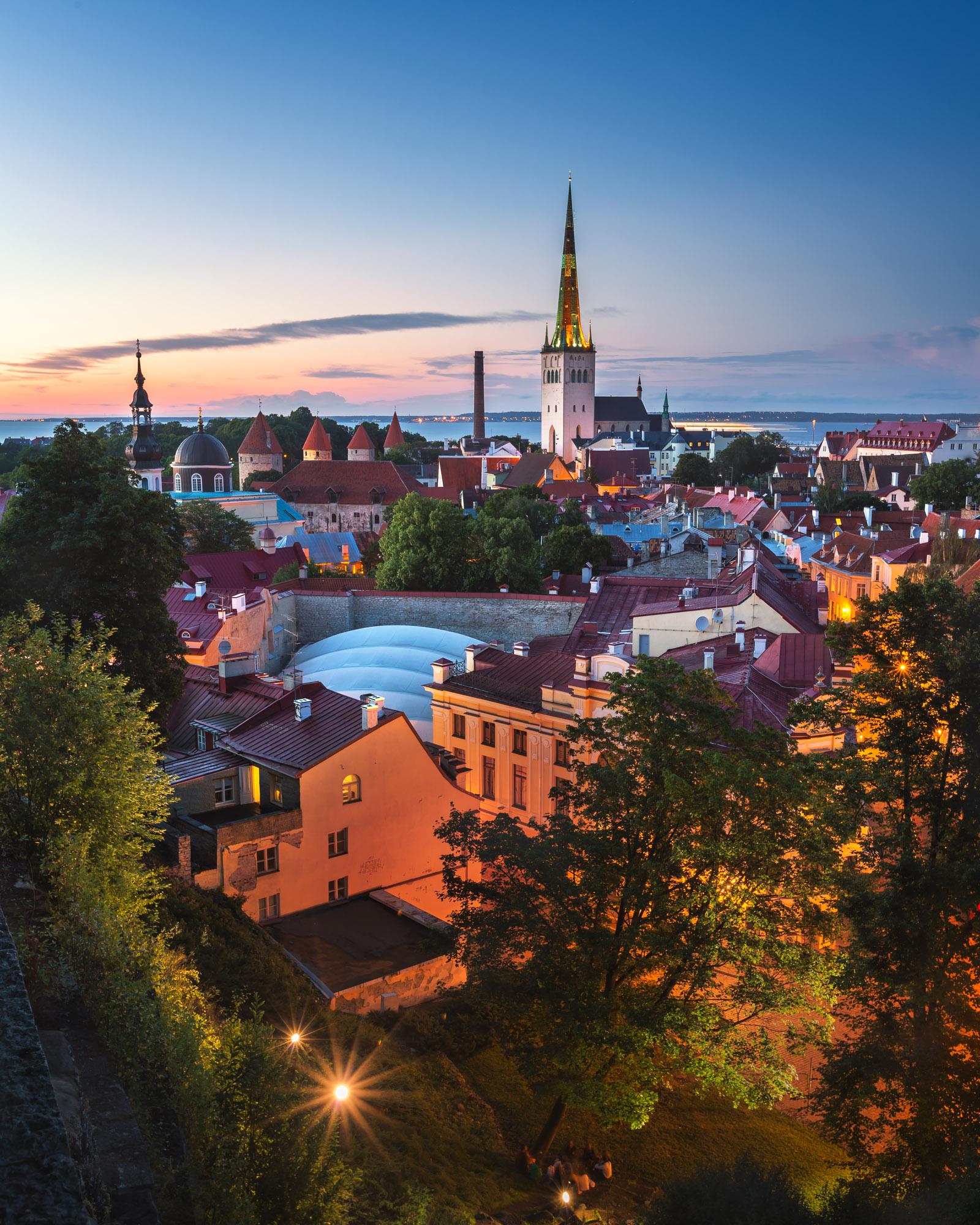 Aerial View of Tallinn Old Town, Tallinn, Estonia