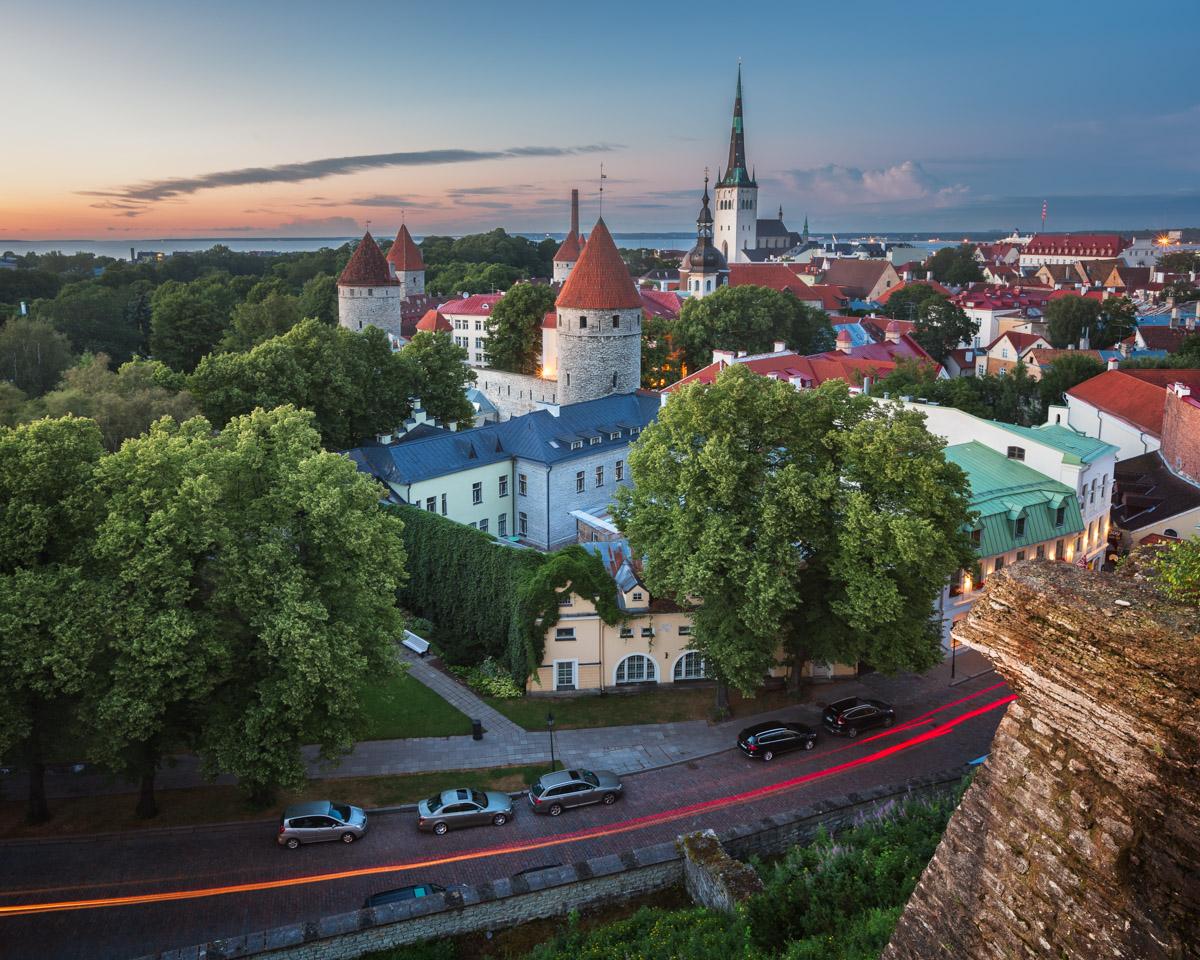 Tallinn Old Town from Toompea Hill, Tallinn, Estonia