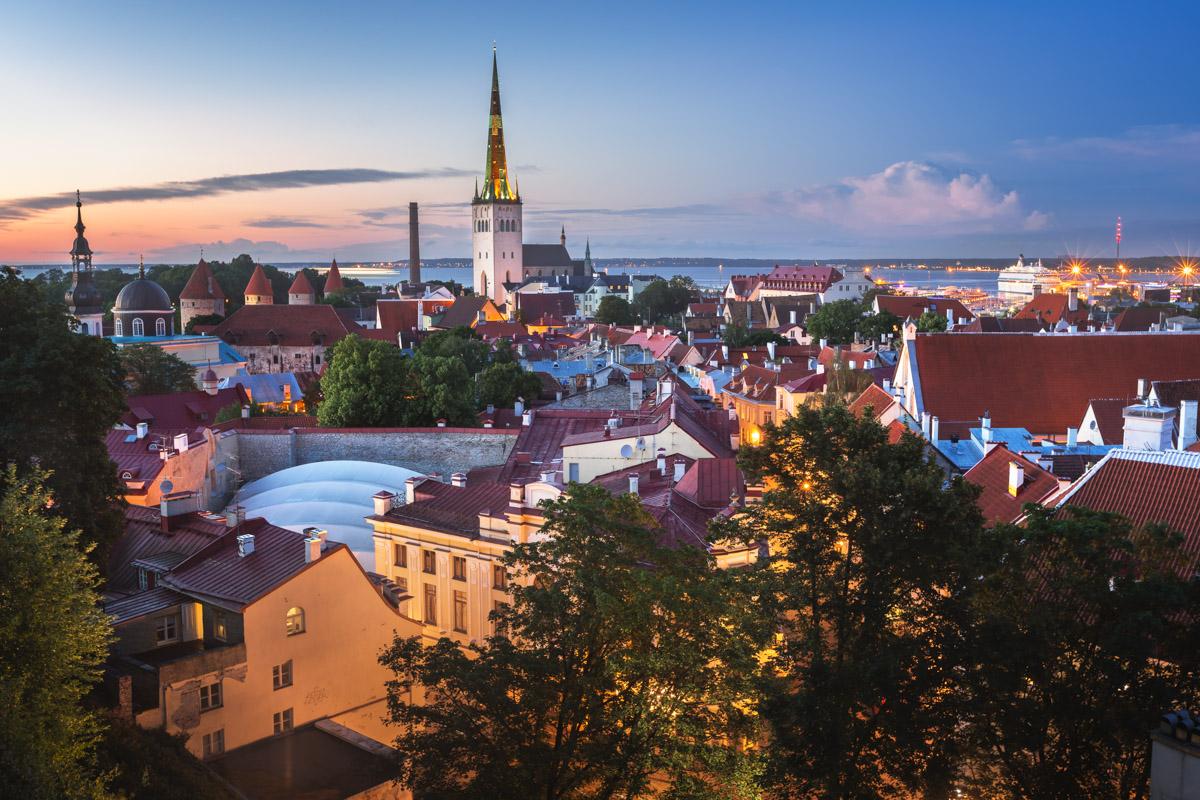 Tallinn Old Town in the Evening, Tallinn, Estonia