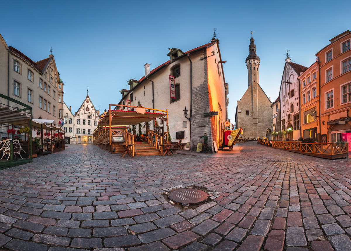 Town Hall and Olde Hansa Restaurant, Tallinn, Estonia