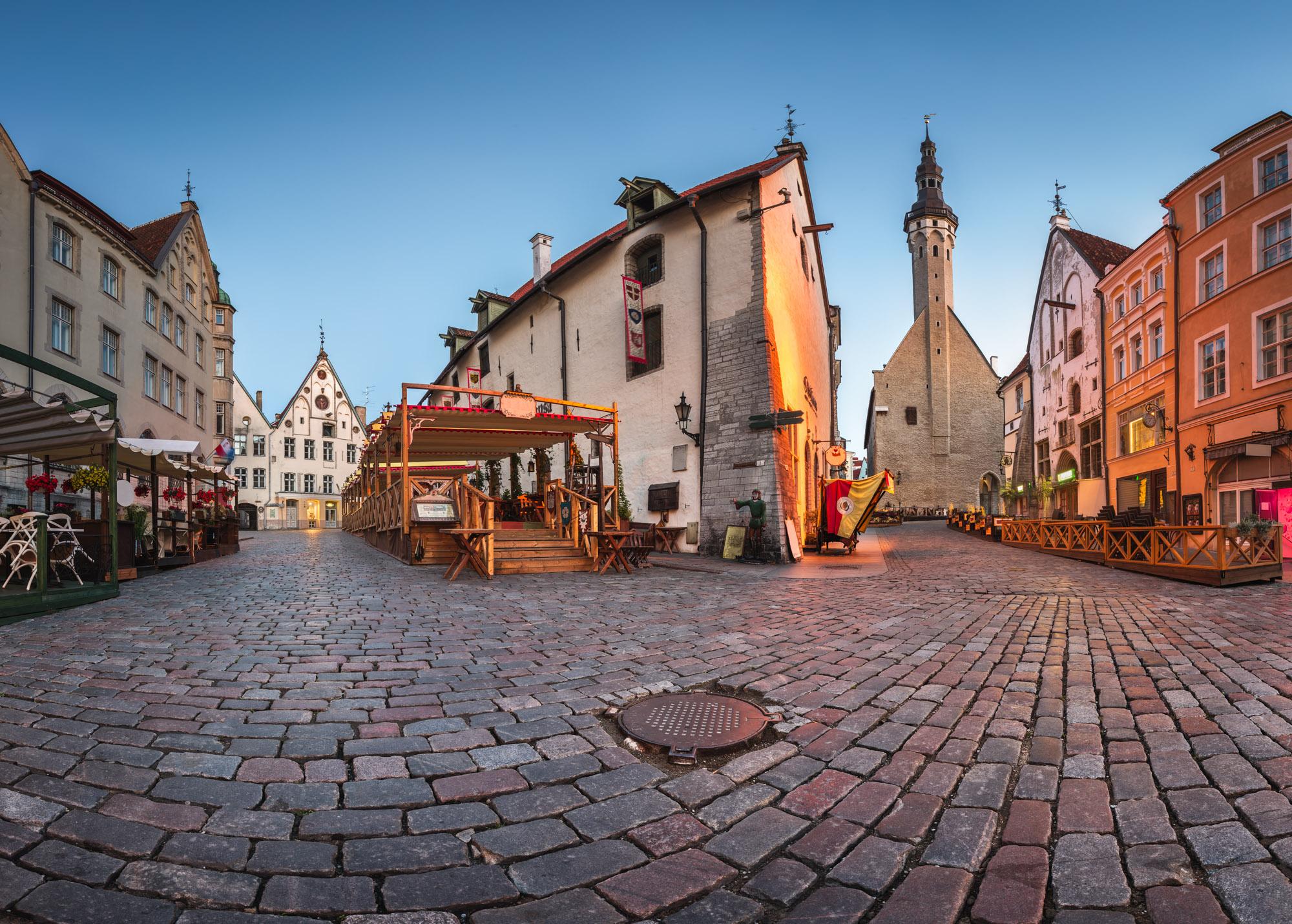 Town Hall and Olde Hansa Restaurant, Tallinn, Estonia