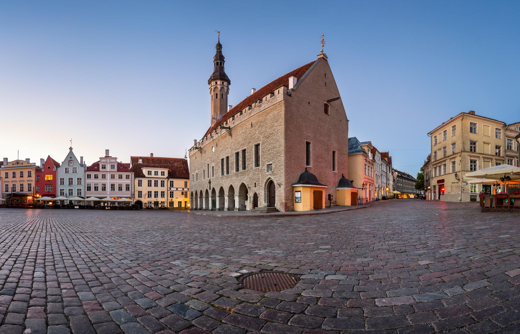 Town Hall and Raekoja Square, Tallinn, Estonia