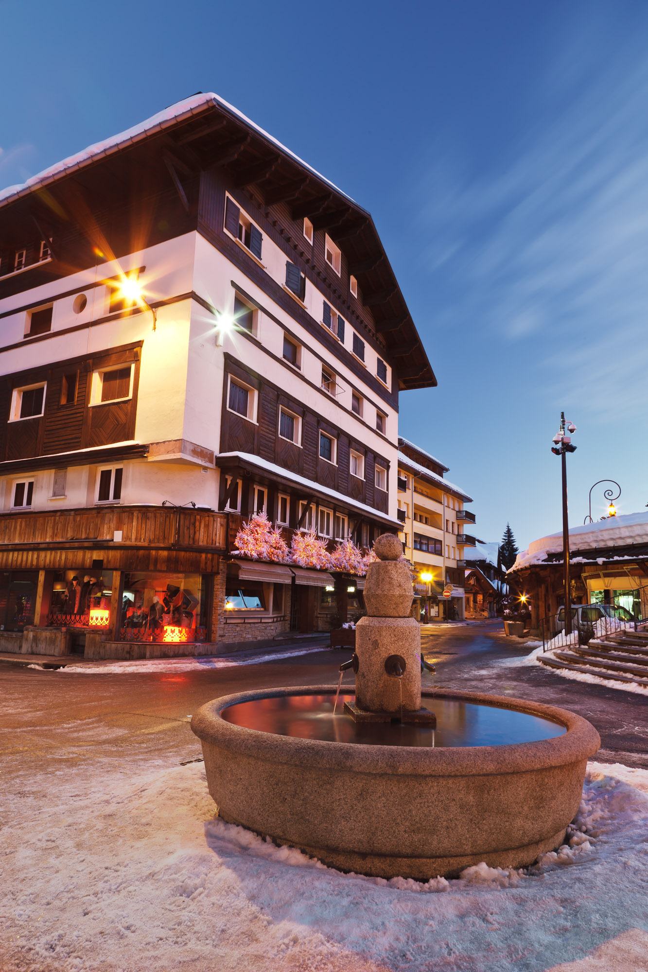 Fountain in Megeve, France