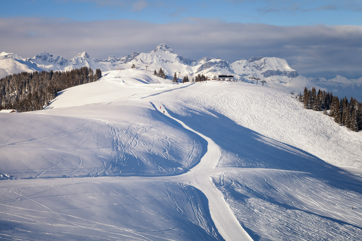 Ski Slopes in Megeve, France
