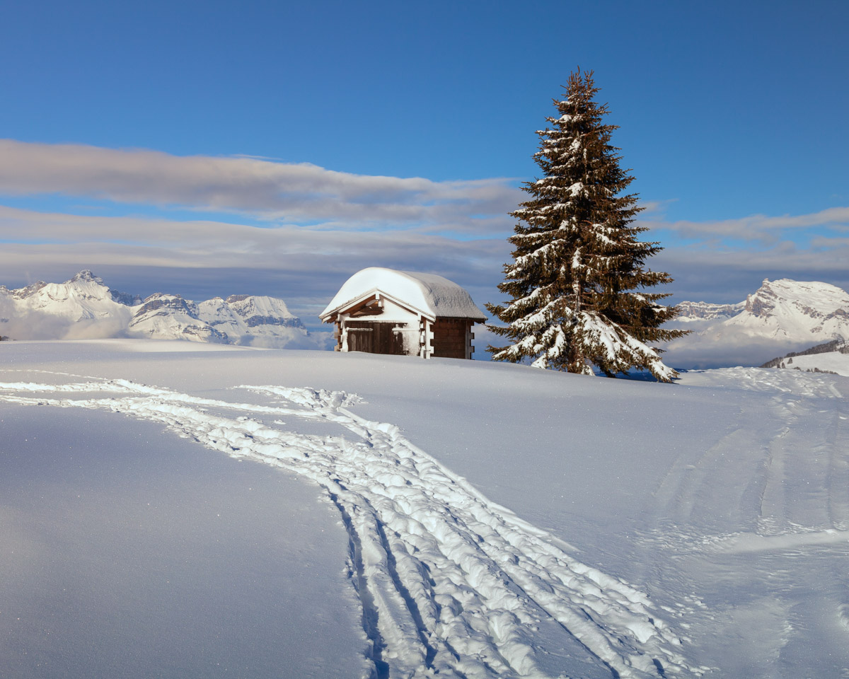 Small Hut near Ski Slope, Megeve, France