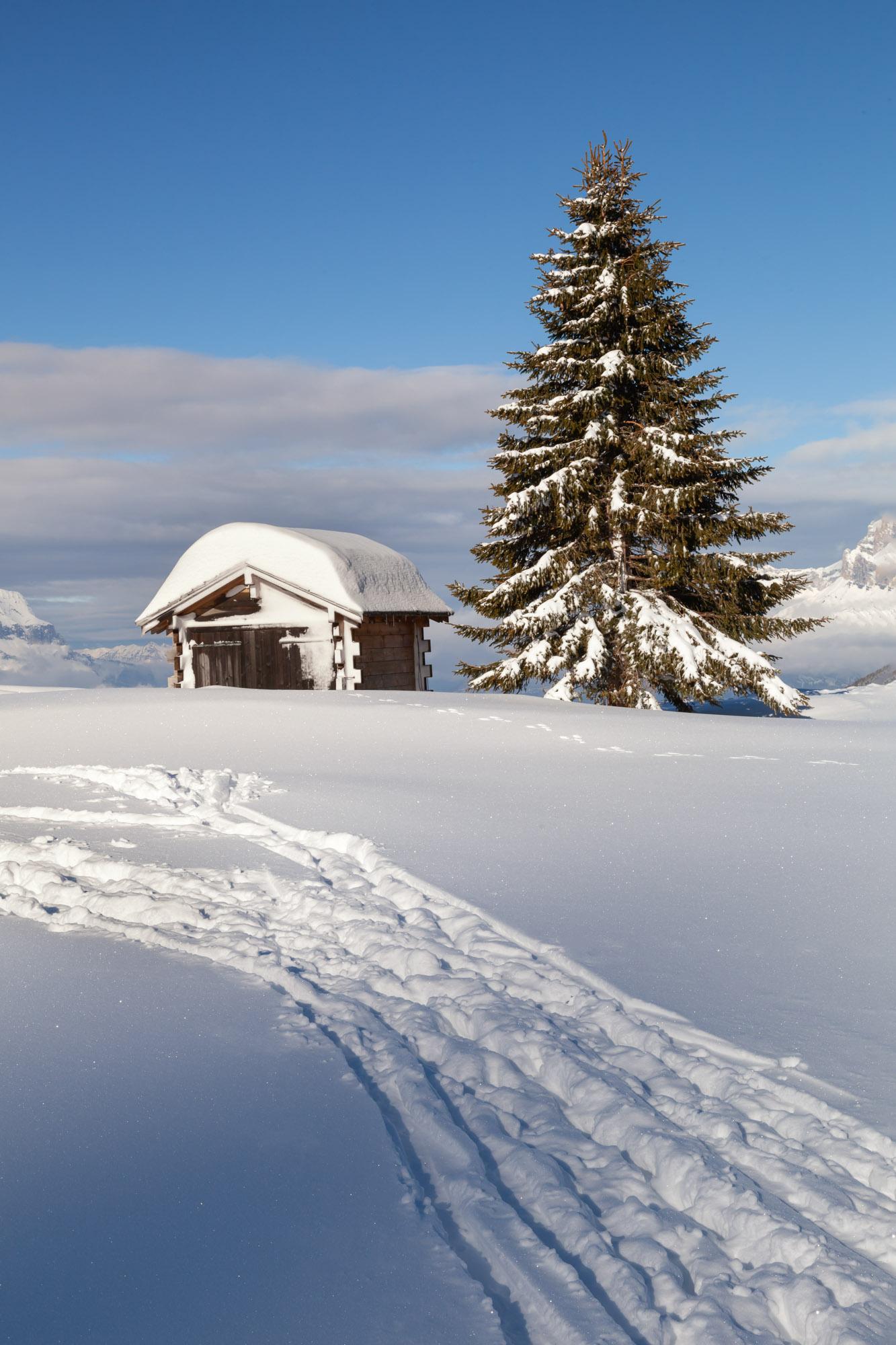 Small Hut on Ski Resort, Megeve, France