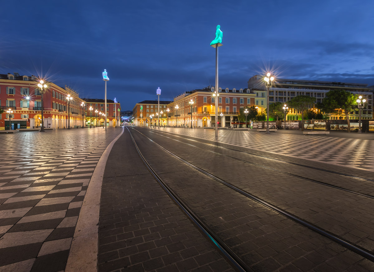 Massena Place and Avenue des Phoceens, Nice, France