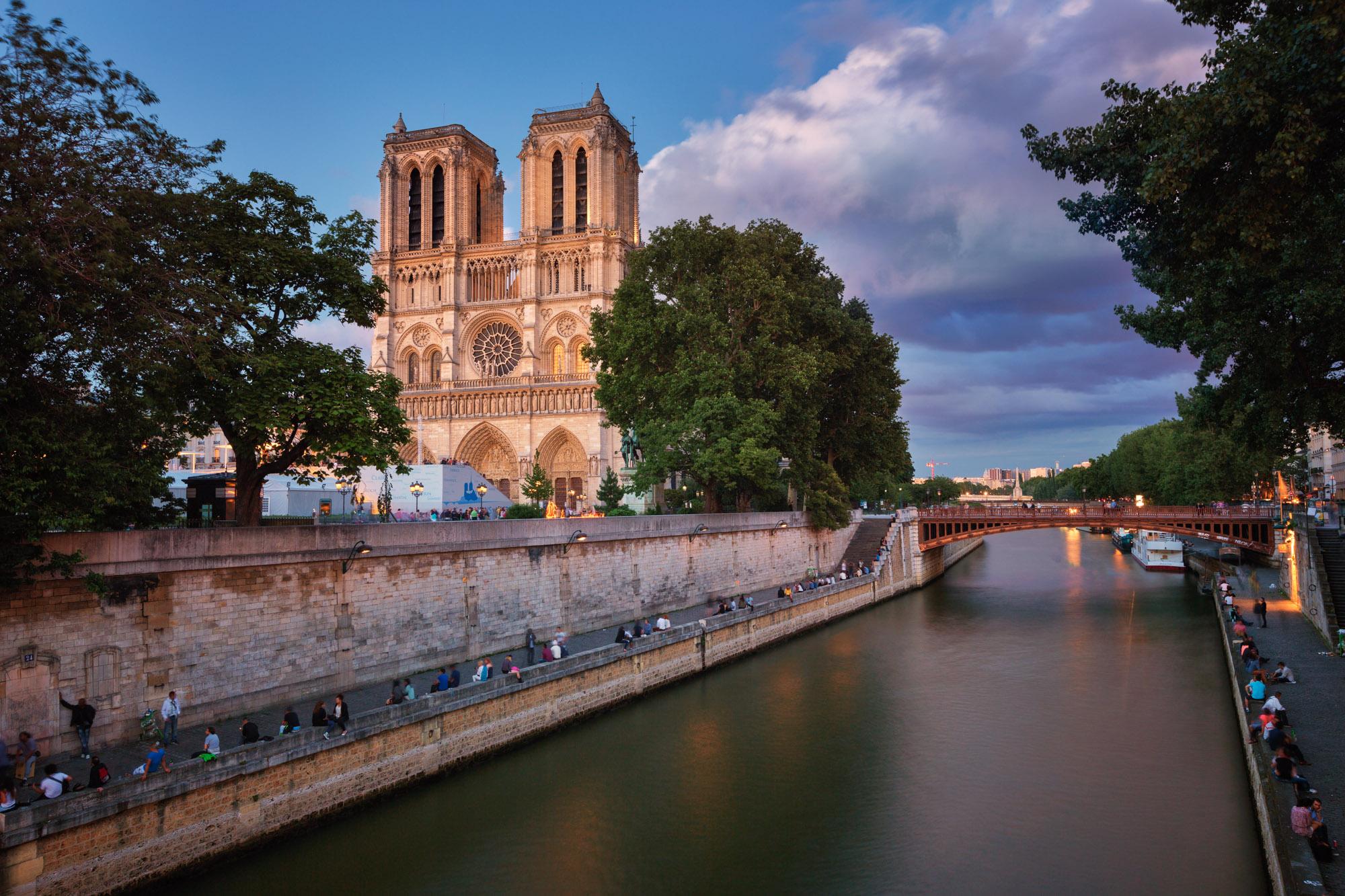 Notre Dame de Paris and Seine River, Paris, France