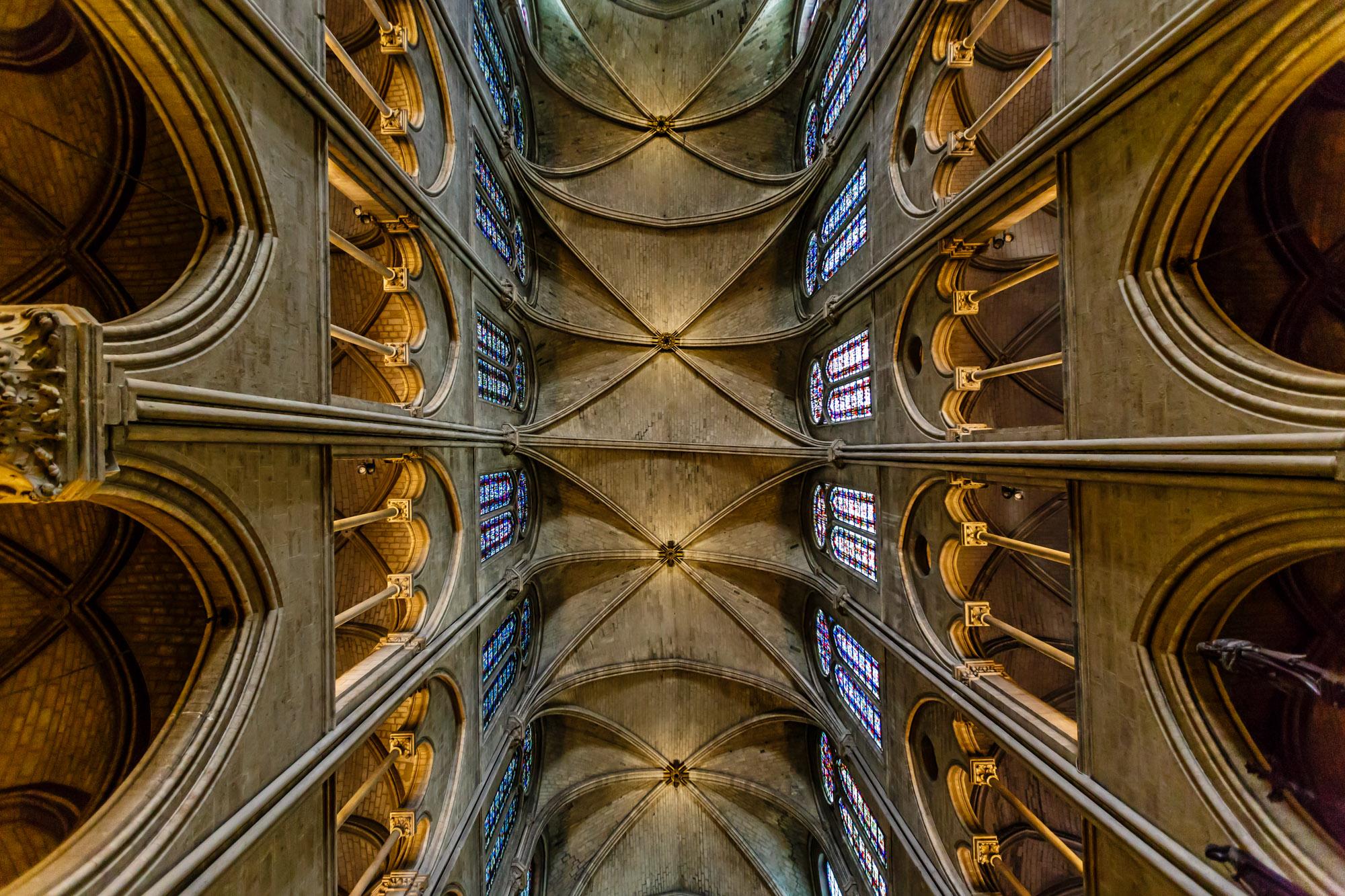 Notre Dame de Paris Cathedral Roof, Paris, France