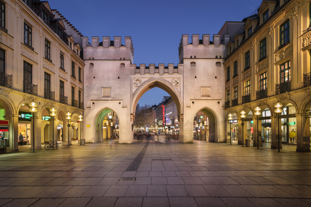 Karlstor Gate and Karlsplatz Square, Munich, Germany
