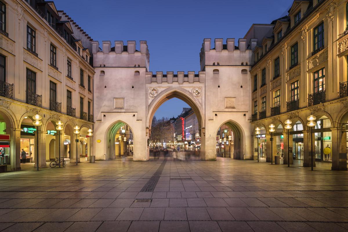 Karlstor Gate and Karlsplatz Square, Munich, Germany