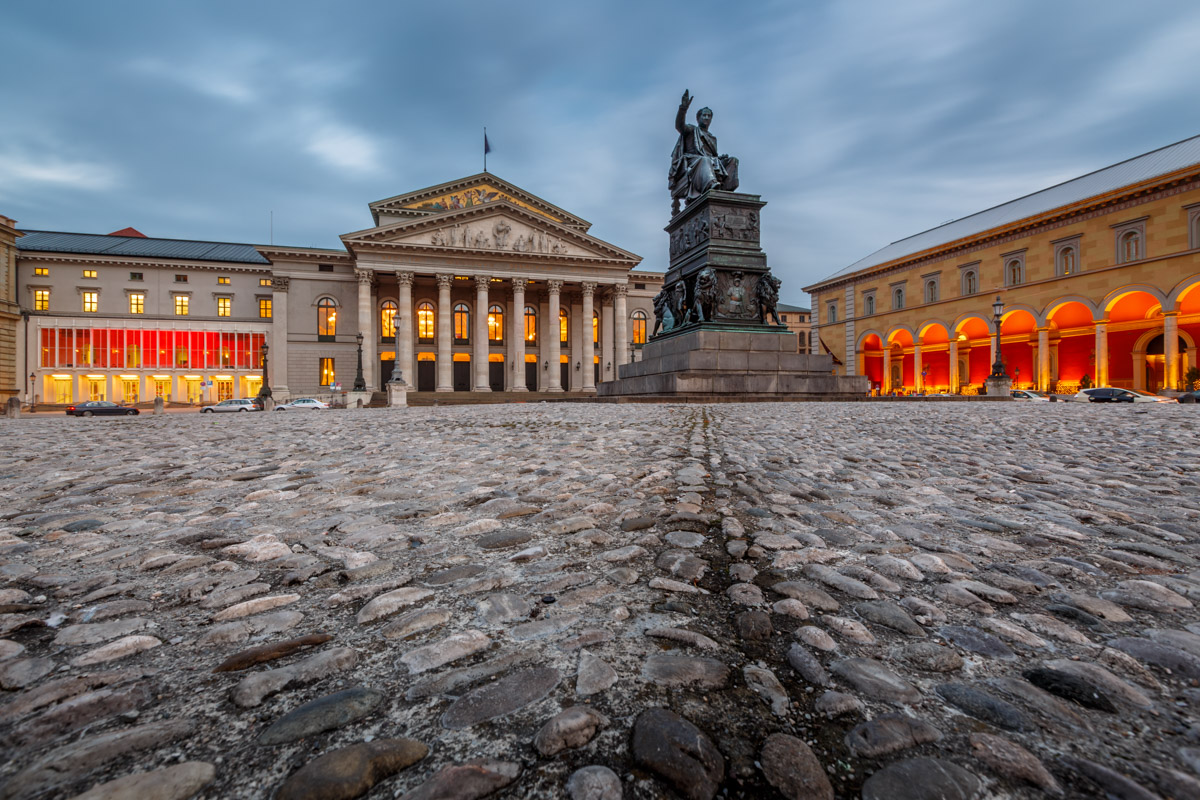 National Theatre, Max-Joseph-Platz Square, Munich, Germany
