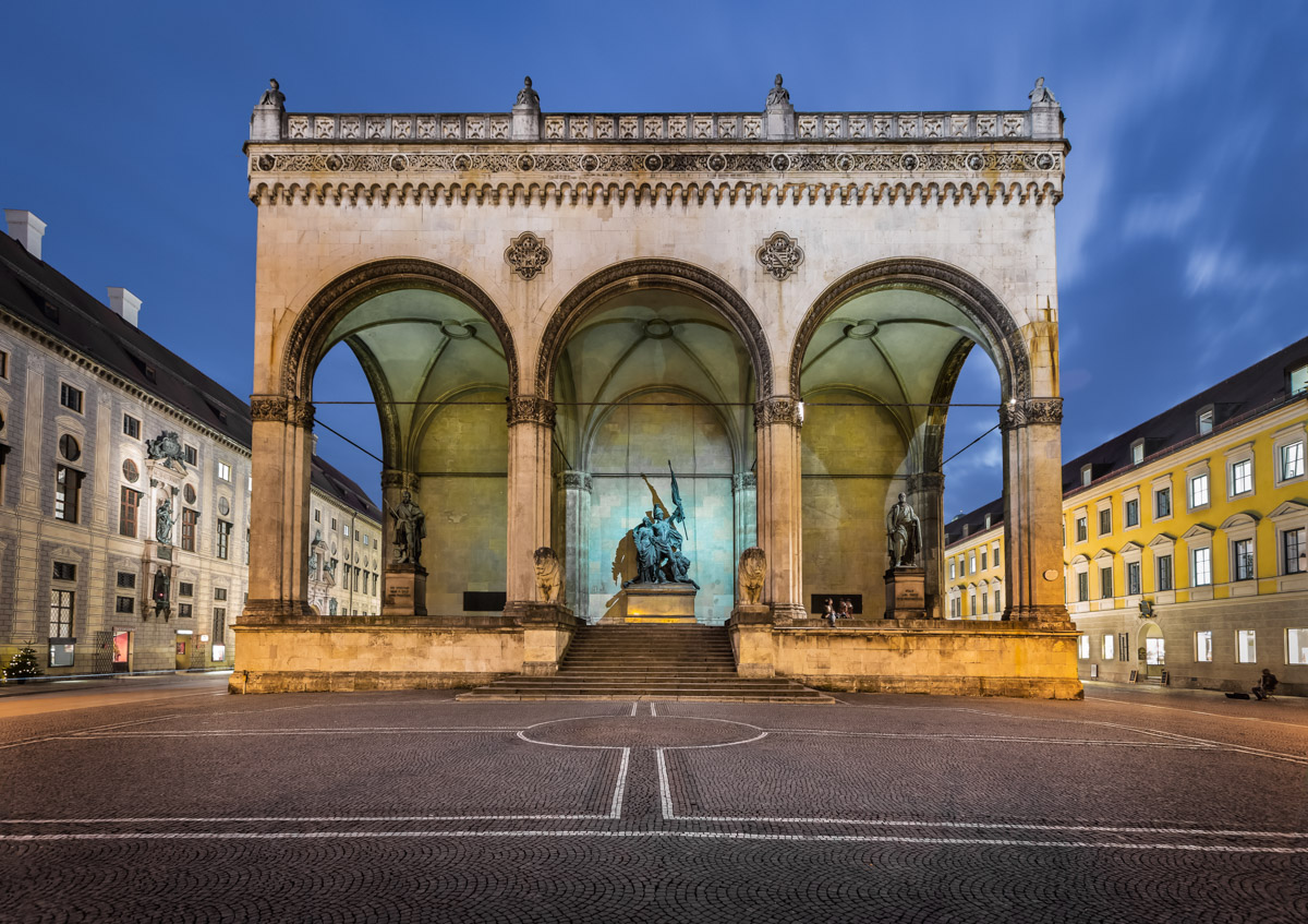 Odeonplatz and Feldherrnhalle, Munich, Germany