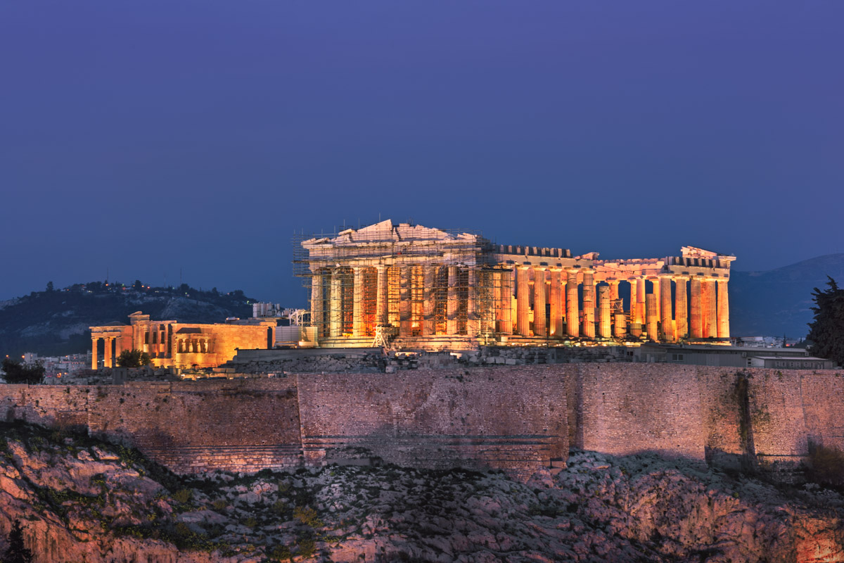 Acropolis and Parthenon from the Philopappos Hill, Athens