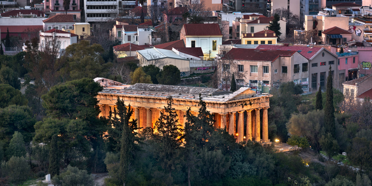 Temple of Hephaestus in the Evening, Athens, Greece