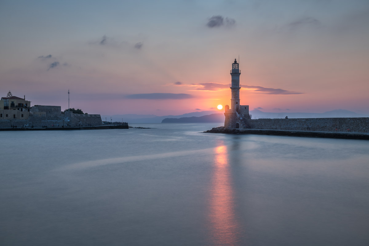 Lighthouse and Old Venetian Port, Chania, Crete, Greece