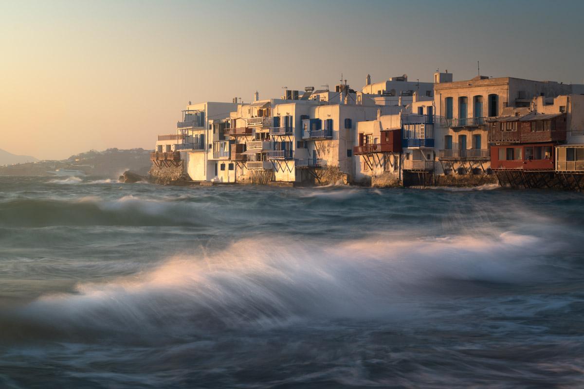 Little Venice in Chora, Mykonos, Greece