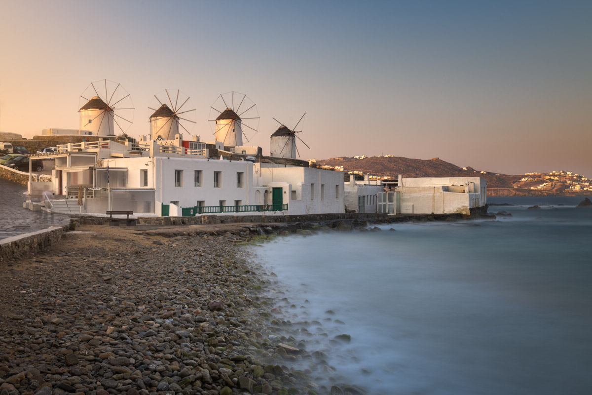 Old Windmills in Chora, Mykonos, Greece