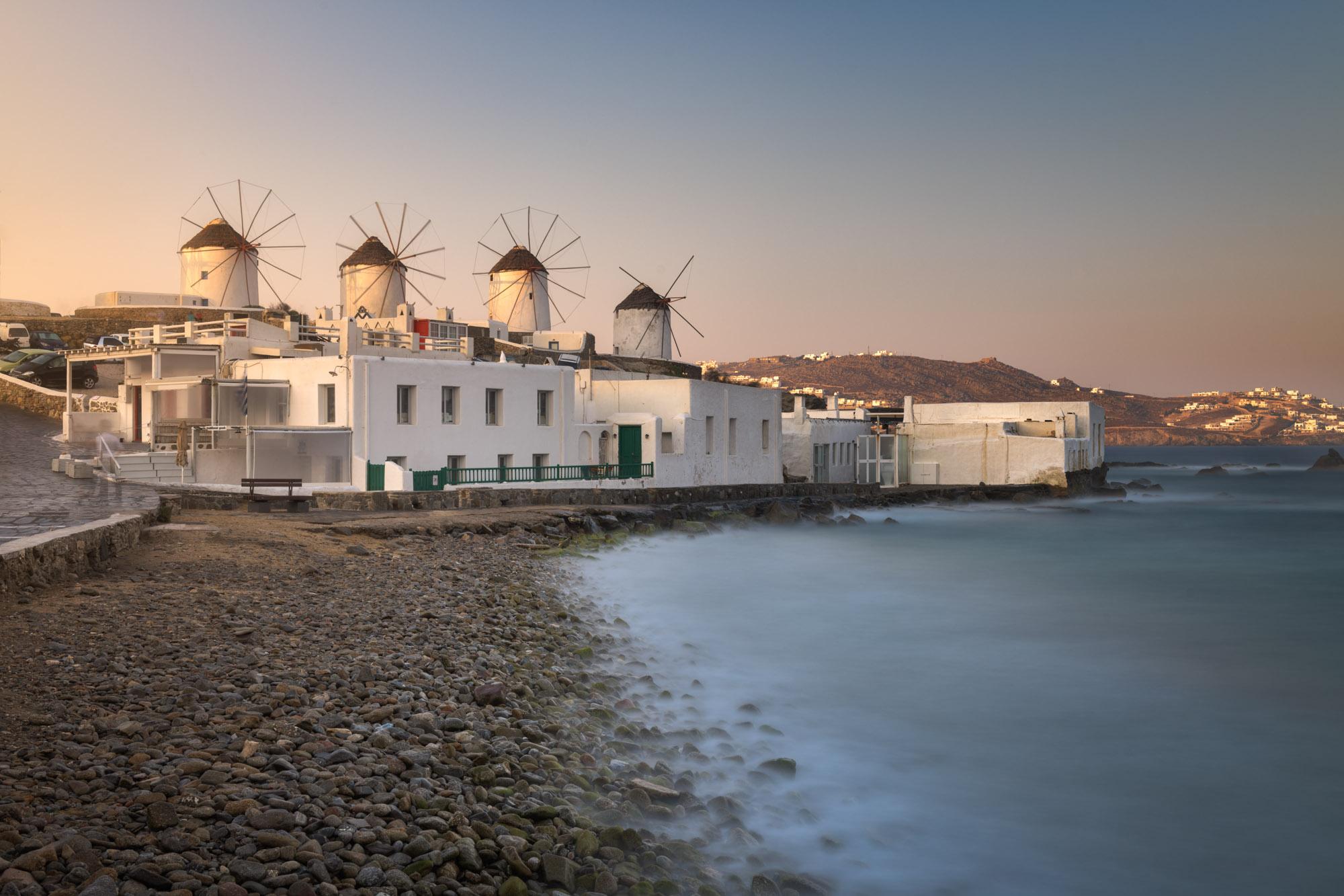 Old Windmills in Chora, Mykonos, Greece