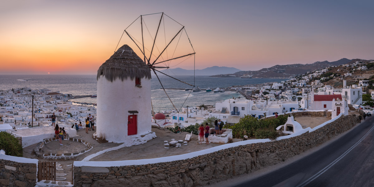 Panorama of Chora, Mykonos, Greece