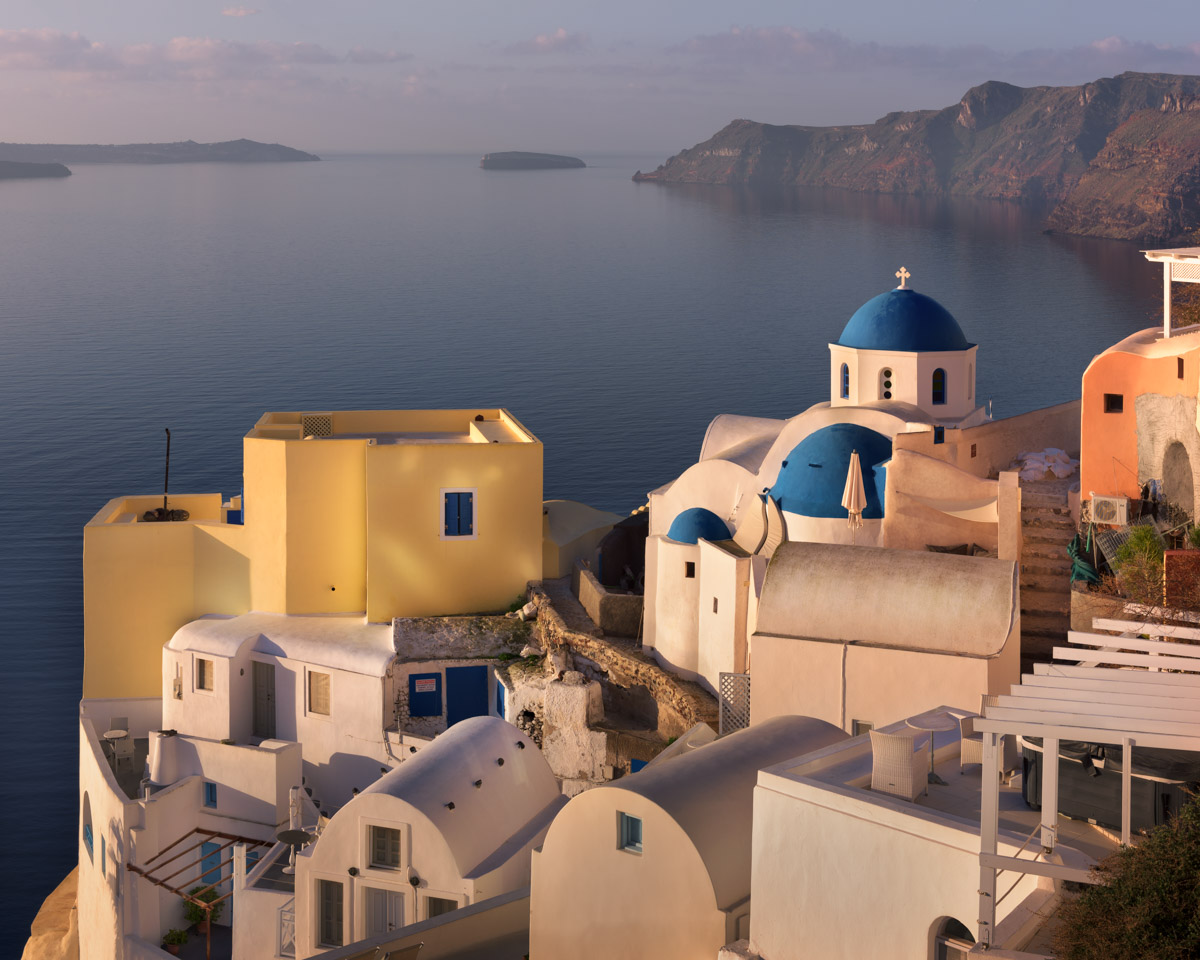 Oia Village, Morning, Santorini, Greece