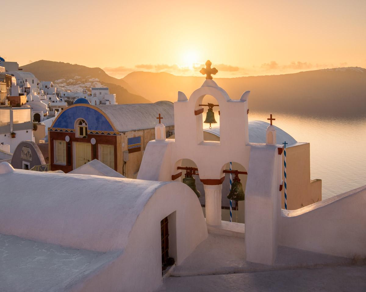 Oia Village, Sunrise, Santorini, Greece