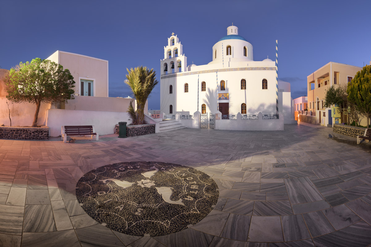 Panagia Platsani Orthodox Church, Oia, Santorini, Greece