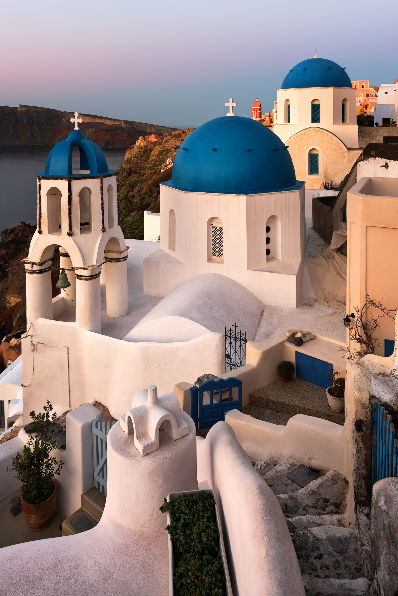 Saint Spyridon Church and Anastasis Church, Oia, Santorini, Gree