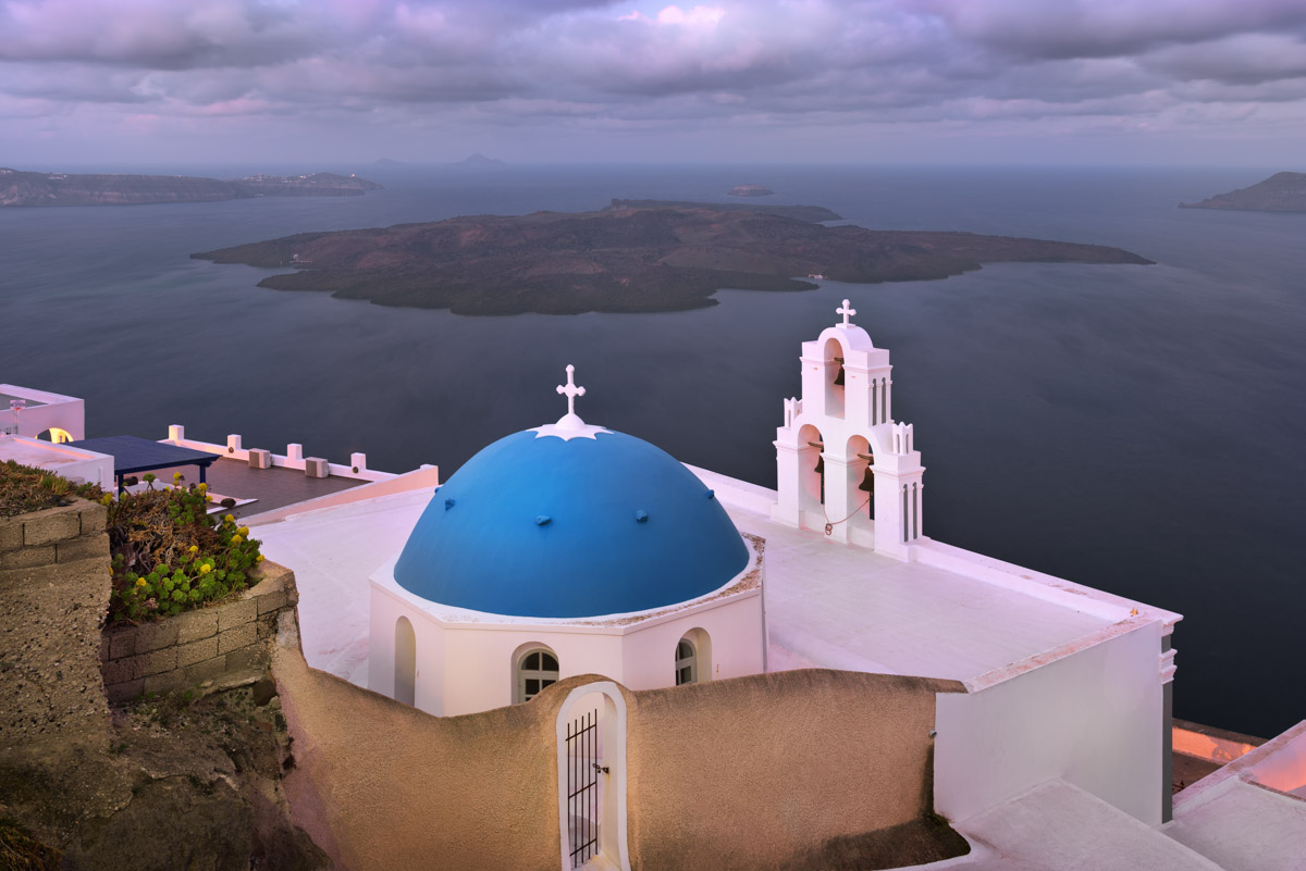 Saint Theodore Church in the Morning, Fira, Santorini, Greece