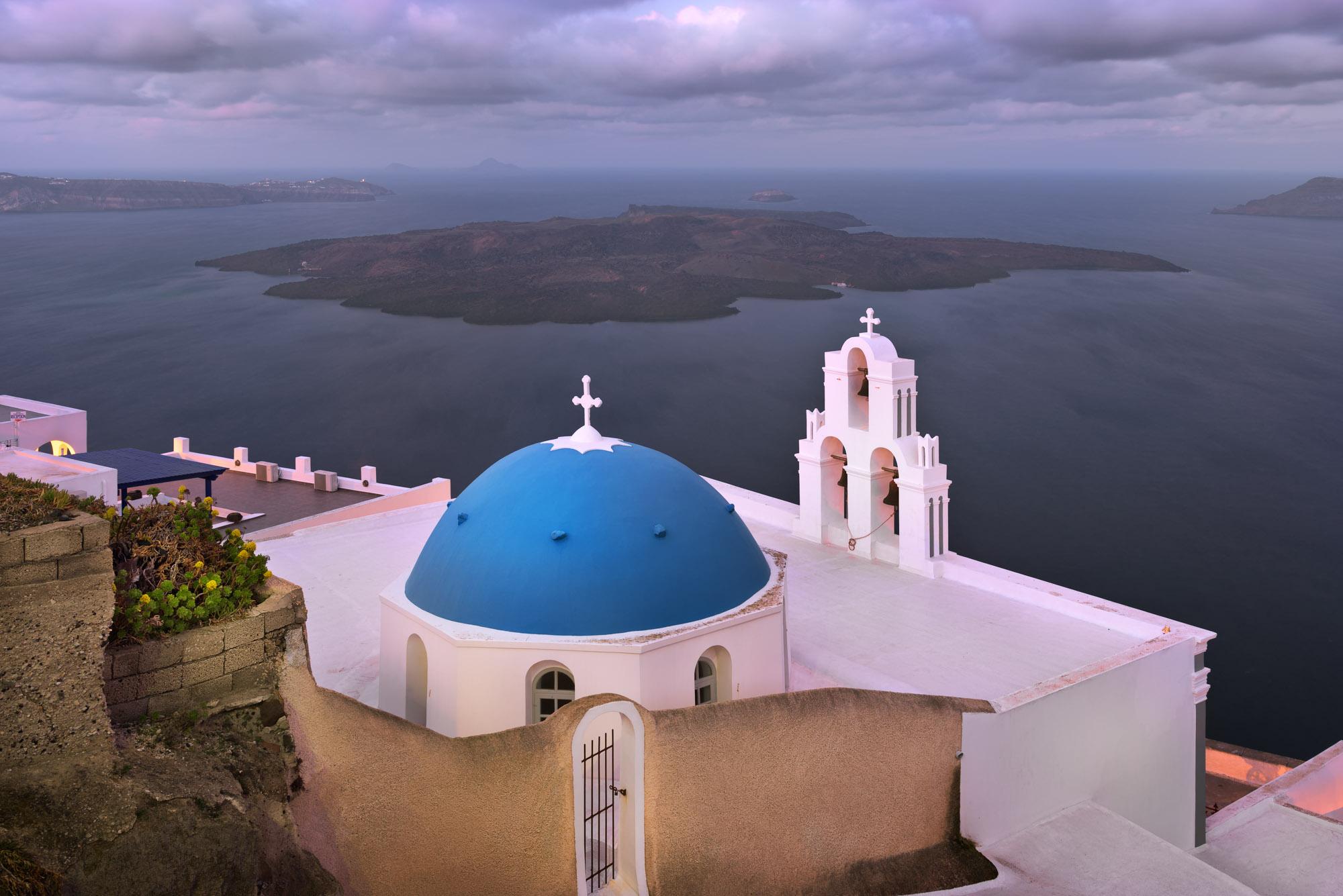 Saint Theodore Church in the Morning, Fira, Santorini, Greece