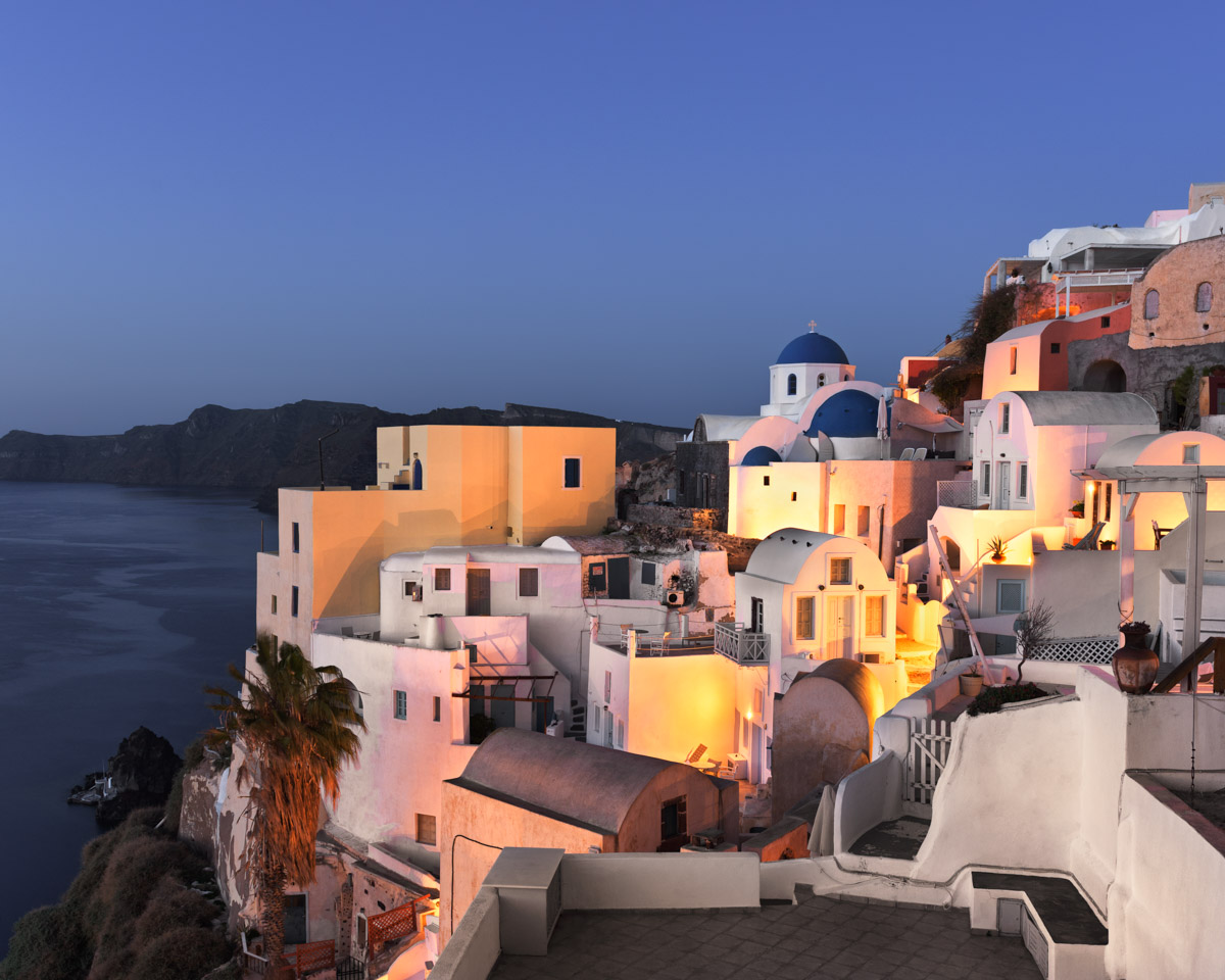 View of Oia Village, Santorini, Greece