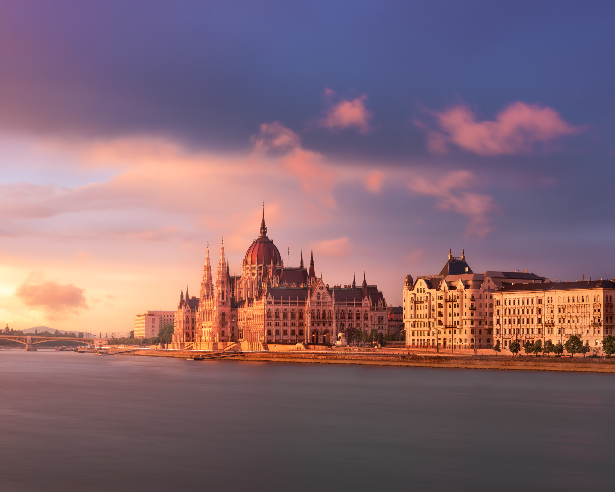 Budapest Parliament and Danube River, Budapest, Hungary