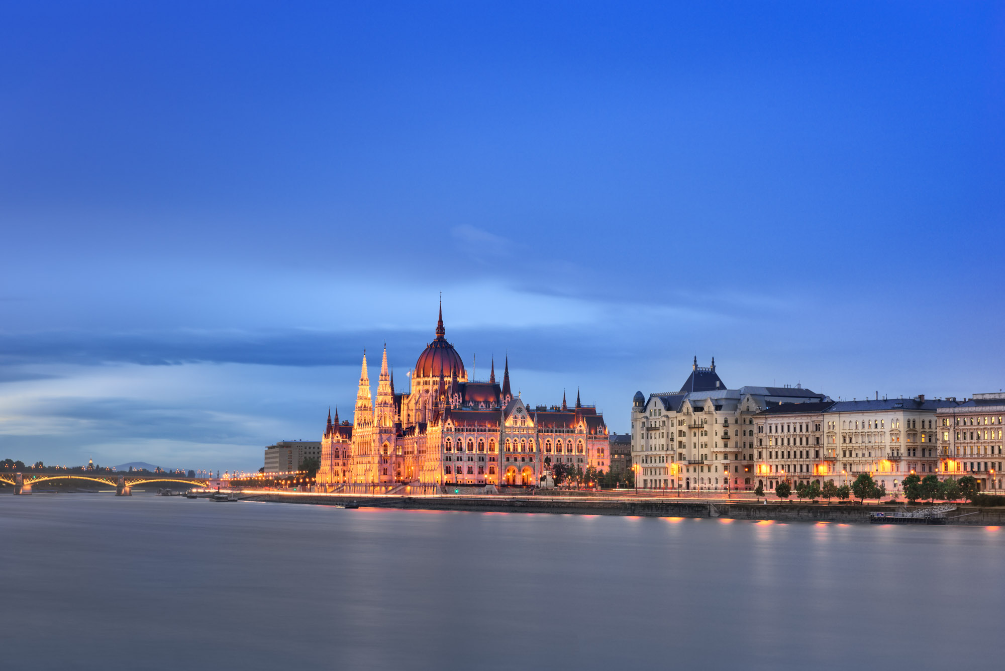 Budapest Parliament in the Evening, Budapest, Hungary