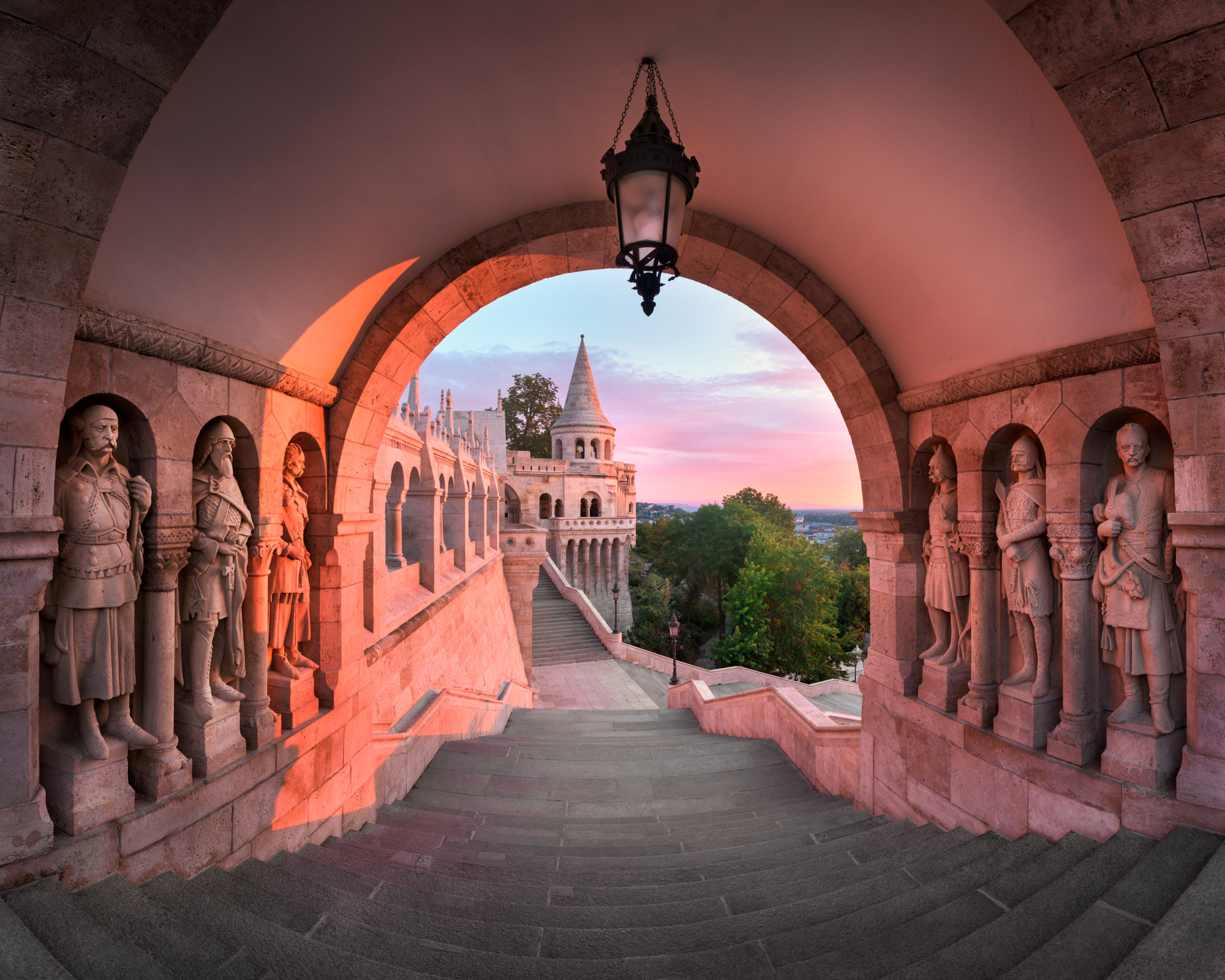 Panorama of Fisherman Bastion, Budapest, Hungary