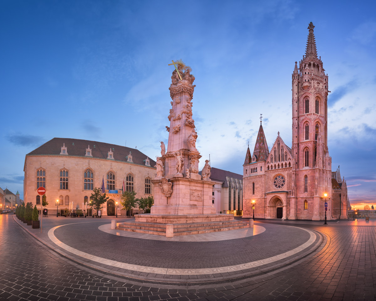 Saint Matthias Church and Trinity Square, Budapest, Hungary