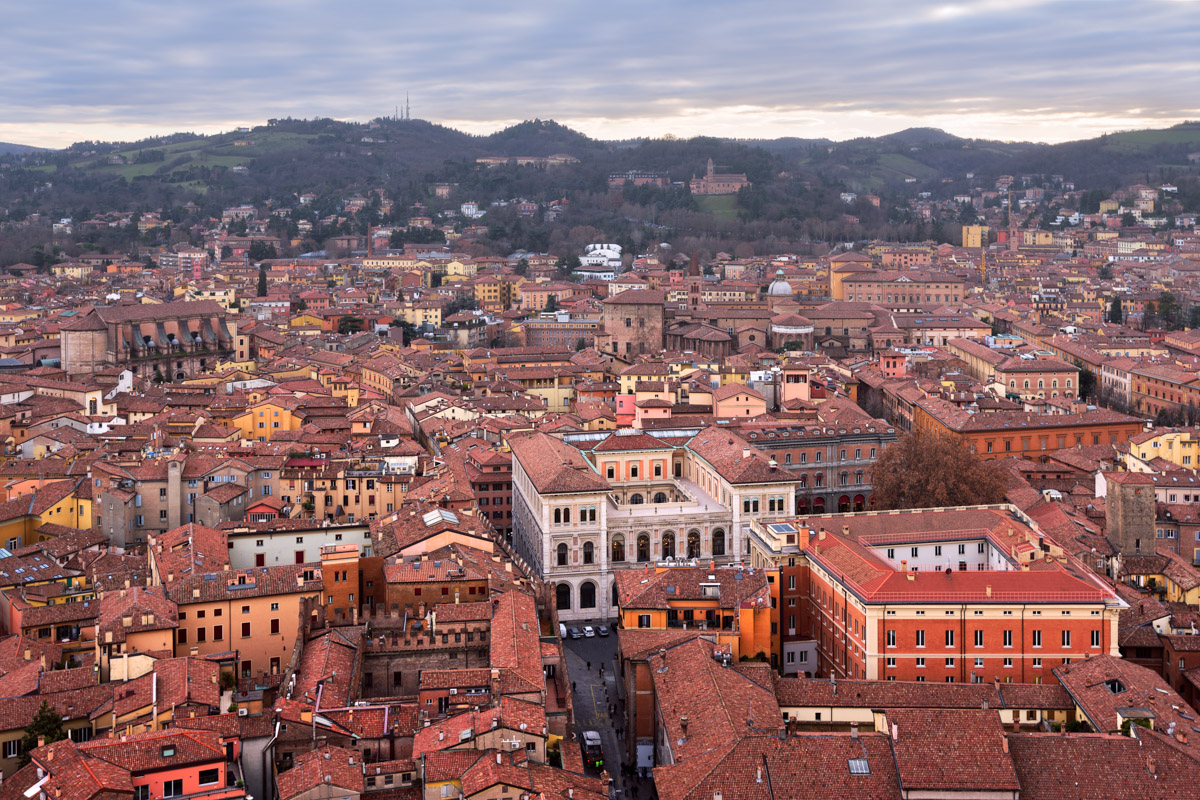 Bologna from Asinelli Tower, Bologna, Emilia-Romagna, Italy