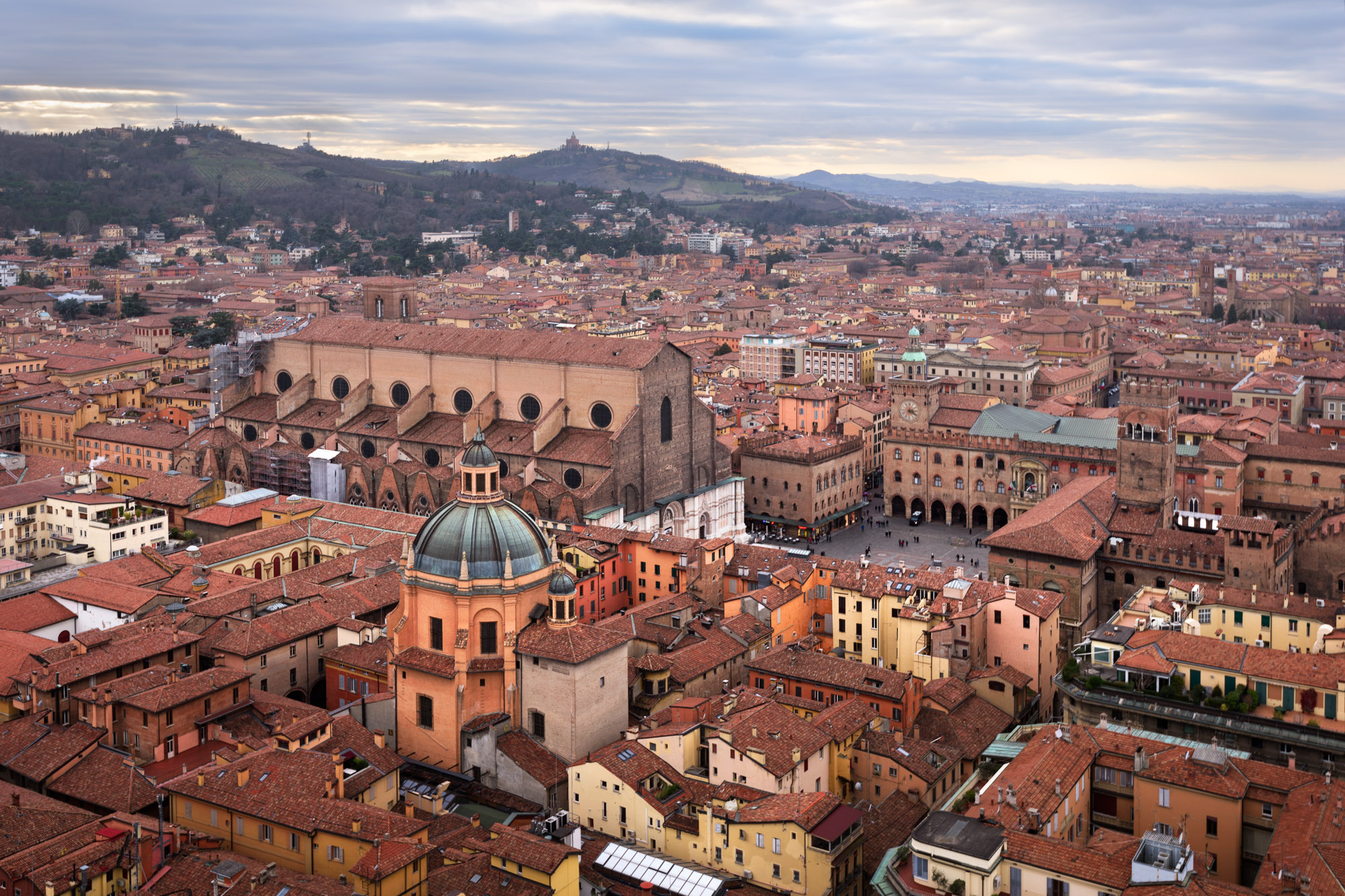 Bologna from Asinelli Tower, Bologna, Italy