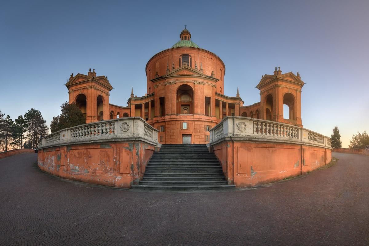 Panorama of Sanctuary of the Madonna di San Luca, Bologna, Italy