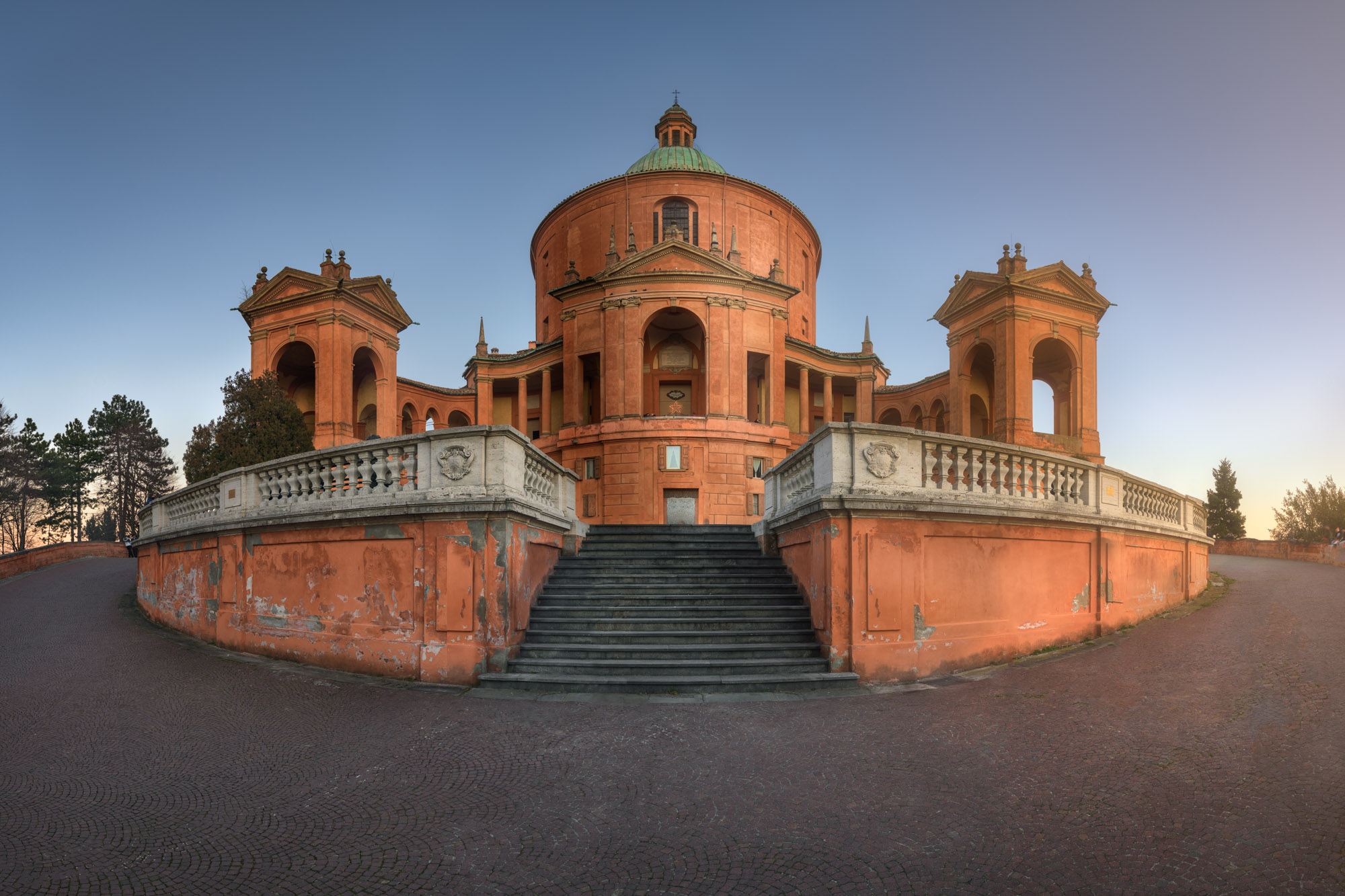 Panorama of Sanctuary of the Madonna di San Luca, Bologna, Italy