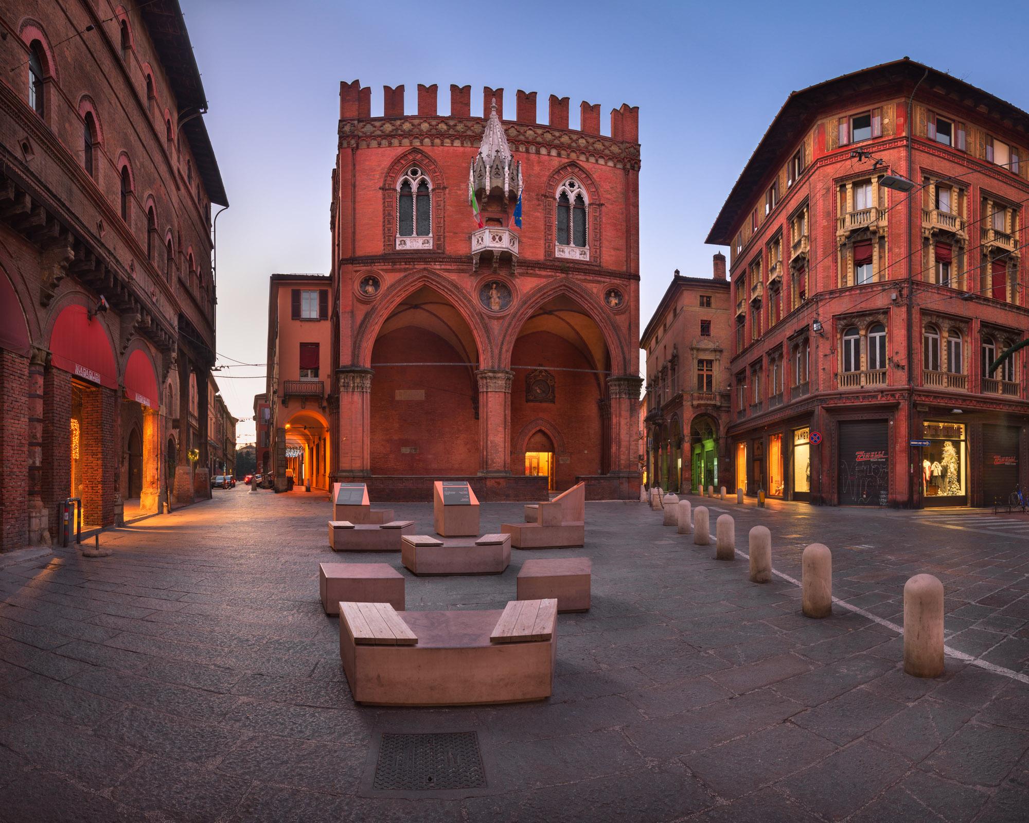Piazza della Mercanzia, Bologna, Italy