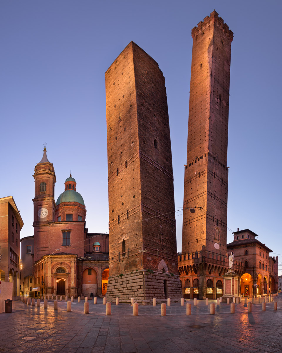 Two Towers and Chiesa di San Bartolomeo, Bologna, Italy