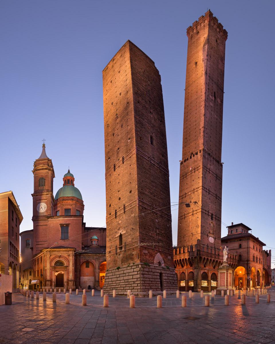 Two Towers and Chiesa di San Bartolomeo, Bologna, Italy
