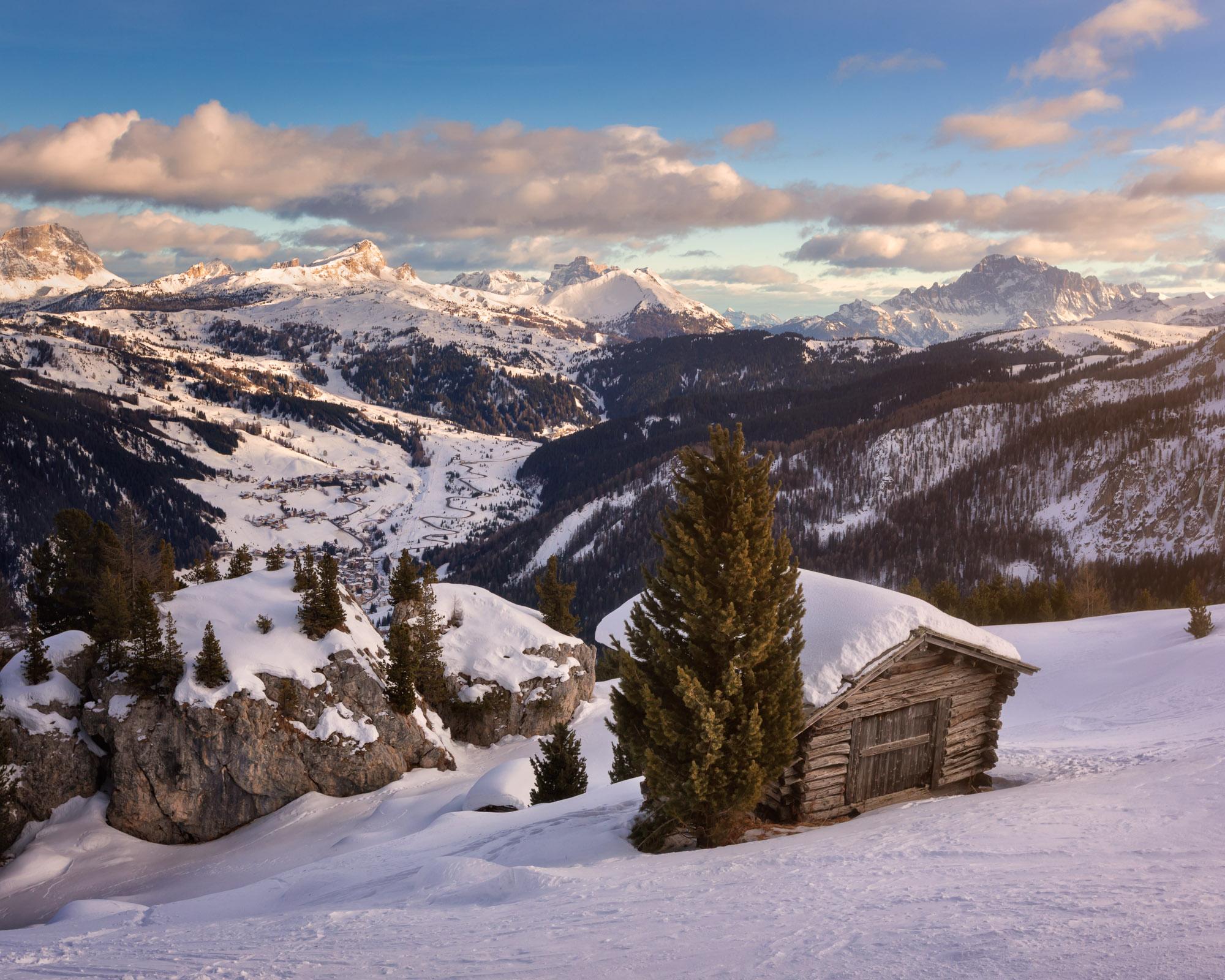 Passo Campolongo Valley, Ski Resort of Arabba, Dolomites, Italy