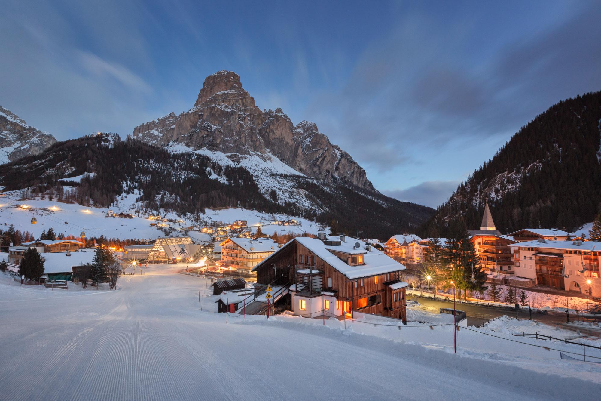 Ski Resort of Corvara, Alta Badia, Dolomites, Italy