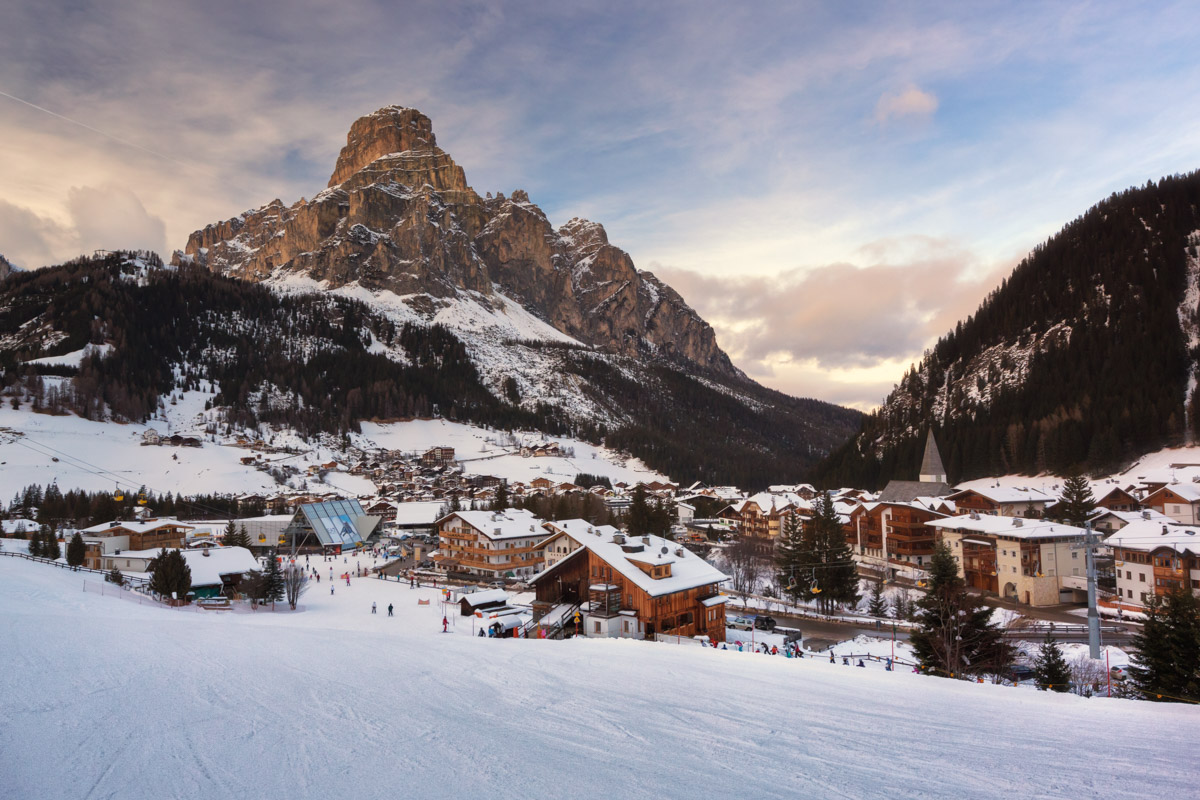 Ski Resort of Corvara, Alta Badia, Italy