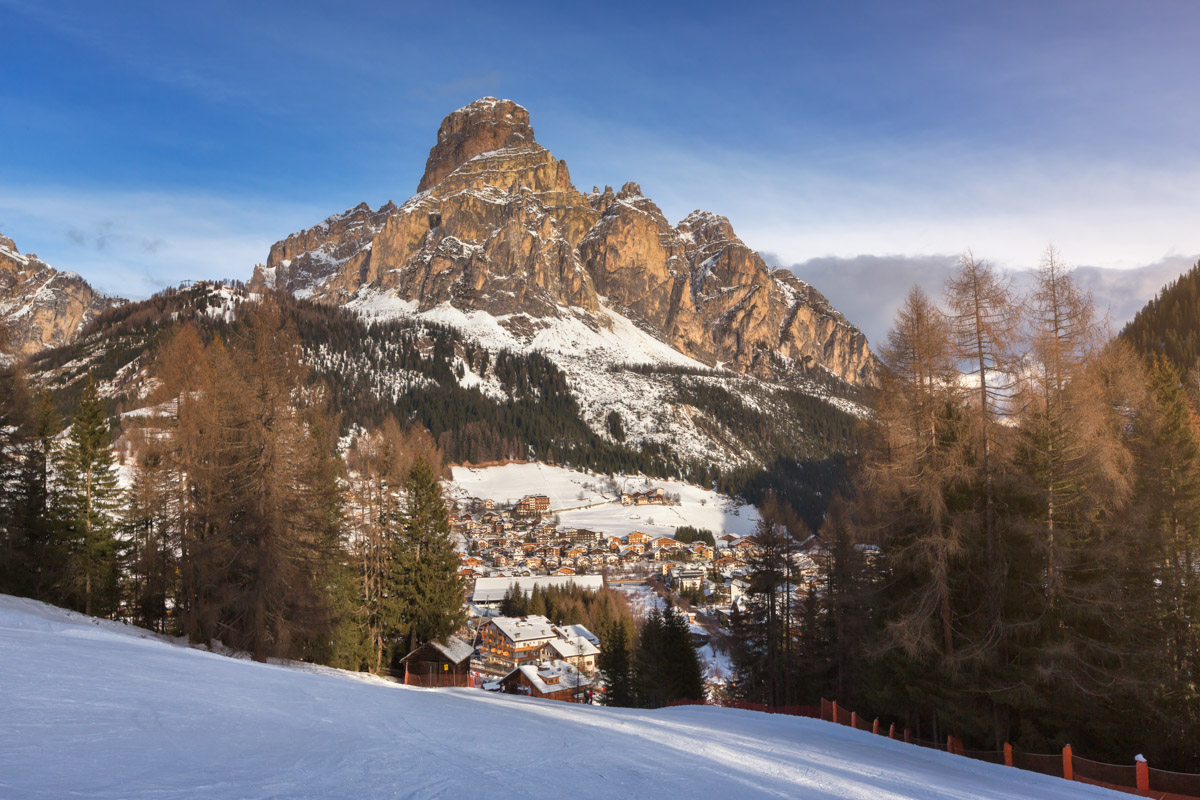 Ski Resort of Corvara, Dolomites, Italy
