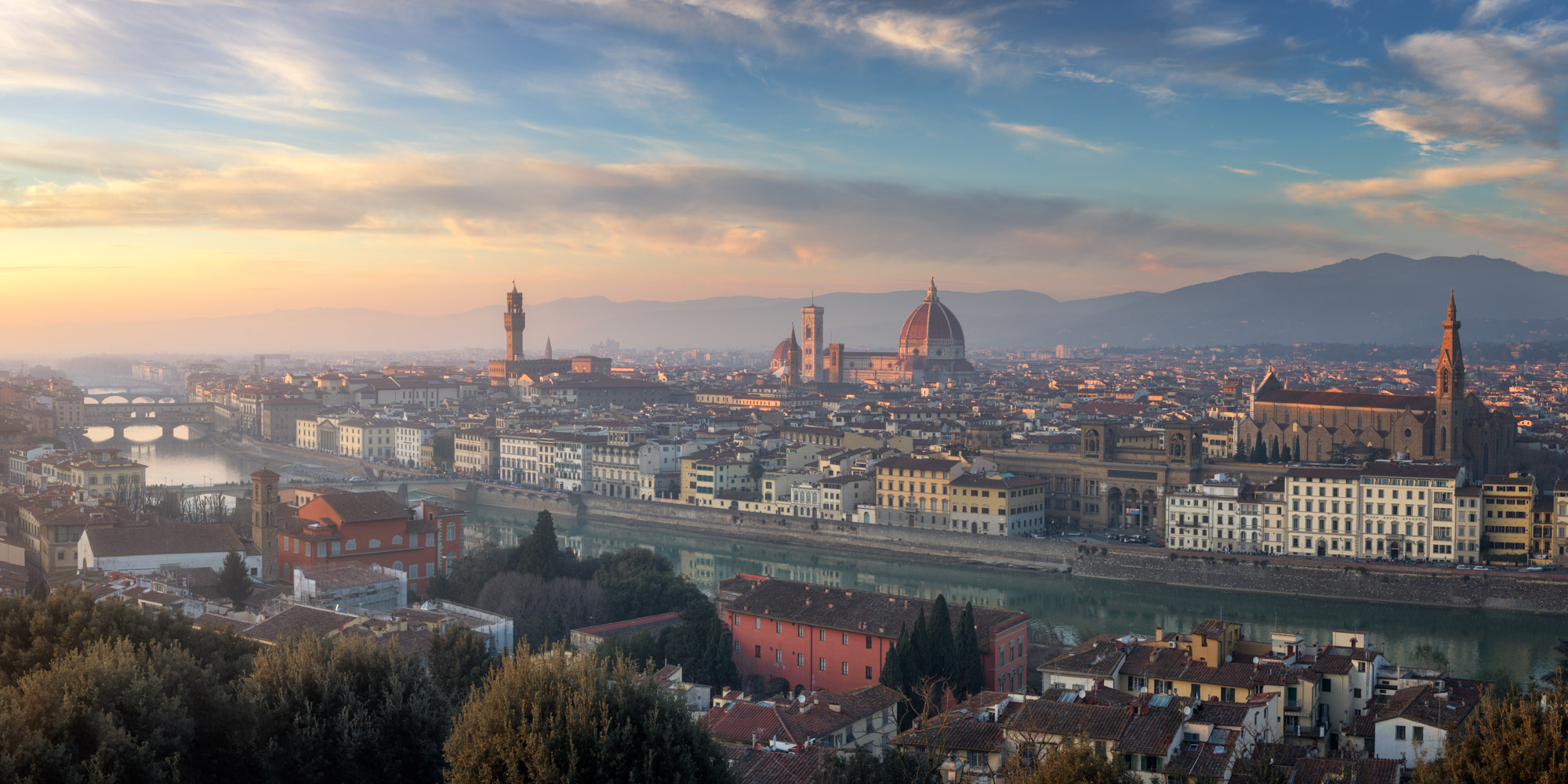 Florence Skyline and Cathedral of Santa Maria del Fiore, Italy